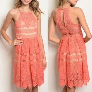 Coral Nude Dress {The Vintage Shop}